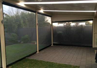 Ziptrak Blinds paved area