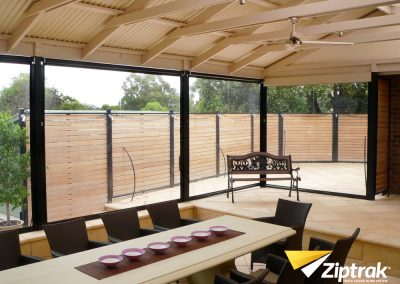 Ziptrak Blinds entertaining