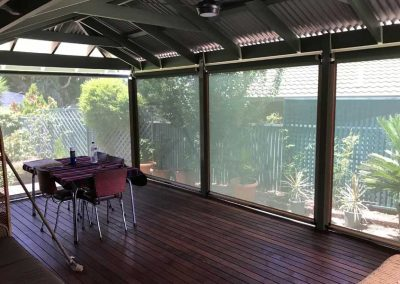 Ziptrak Blinds Patio wooden