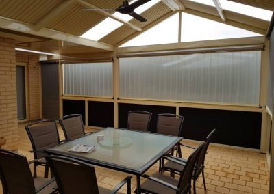 Ziptrak Blinds patio